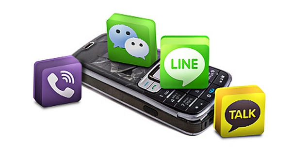 Text messaging apps in Asia