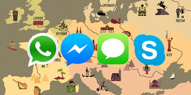 Whatsapp Skype Facebook Messenger iOS iMessage