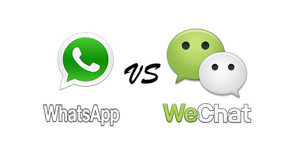 WhatsApp Messenger vs WeChat App