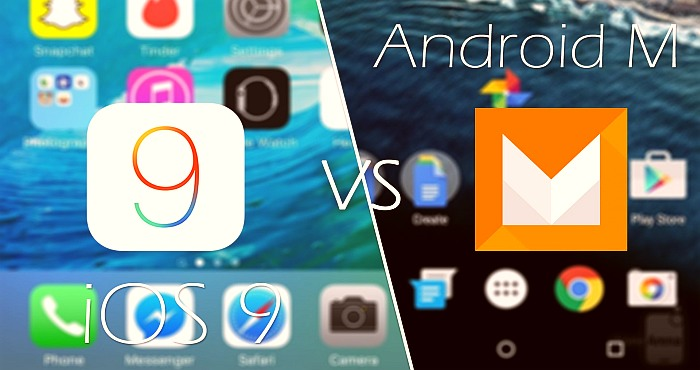 Android 6 versus iOS 9